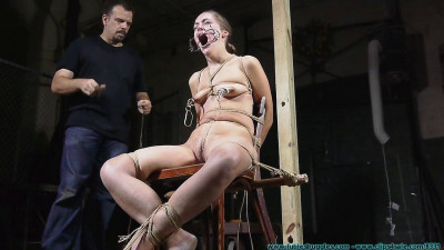 Rope Bondage Nude Chair Tie For Rachel - Part 2