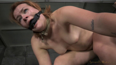 Girl next door Claire Robbins bound brutally fucked big dick, punishing deepthroat! (2015)