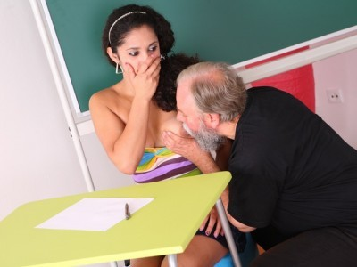 Lara tries to learn the study material with her teacher but realizes she need