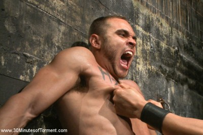 Muscled stud Brock Avery Tormented and Fucked