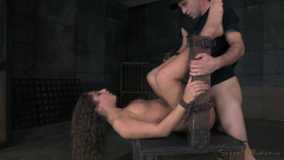 Newbie Abella Danger Belt Bound Roughly Fucked Hard Cock Drooling Epic Deepthroat (2015)