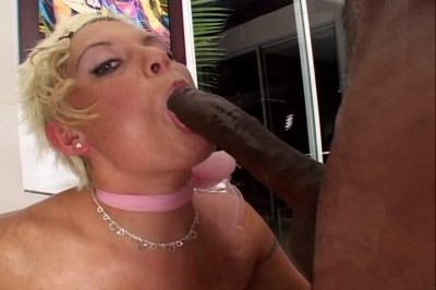 Unnatural blonde with really huge dick