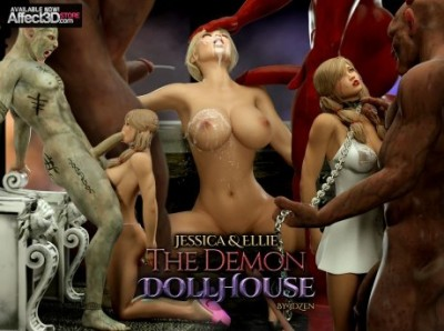Jessica and Ellie Demon Doll House