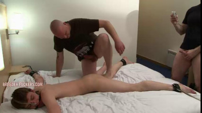 BreederFuckers -  Tied to the bed, clothes cut off him, virgin arse fingered
