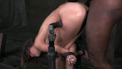 Amber Rayne Assfucked By 2 Big Dicks While Folded In Half .
