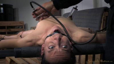 Elise Graves takes on 10 inch BBC, brutally deep throated without mercy