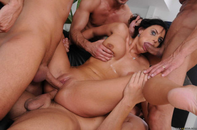 Naughty Girl Gets Fucked Hard by Four Dudes