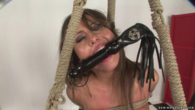 Armbinder and rubber strap gag