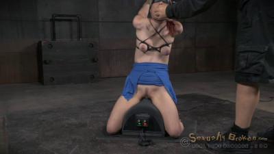 Redheaded Sybian Slut Violet Monroe Does Drooling Deepthroat