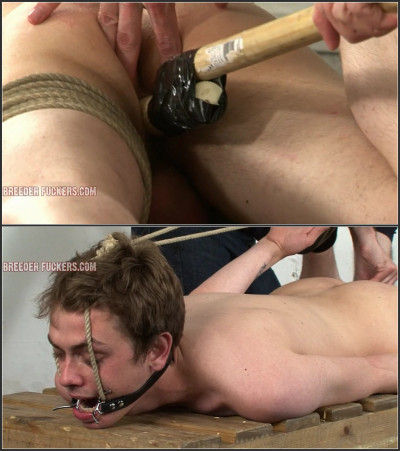 Tied in bondage and gagged, fucked with a vibrator