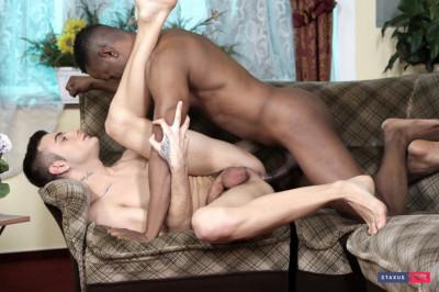 Victor Diamond Goes Black & Gets An Arse-Load Of Creamy Jizz! (Black Piste Scene #3)