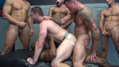 Rough Gang Bang For Muscle Whore