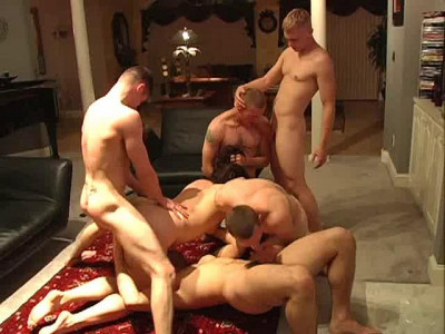 Many bisexual men staged an orgy