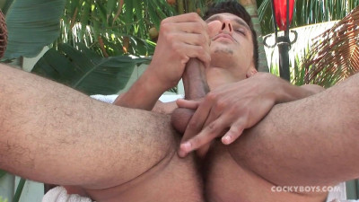 CockyBoys — Jarred's Poolside Stroke