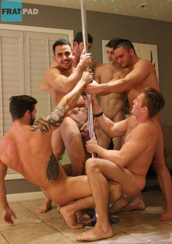 Naked Hunks with a Pole