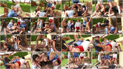 A Cool Group Piss Orgy
