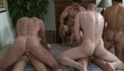 Amazing Bareback Orgy