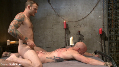 Christian Wilde beats the obedience back into a mouthy slave - gay men dildo fucking...