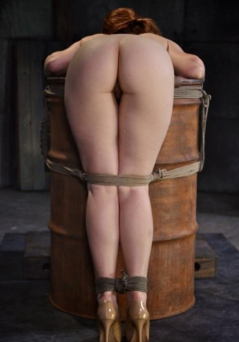 Redheaded Sweetheart Hot Claire Robbins Bend Over A Barrel, Tagteamed By Dick