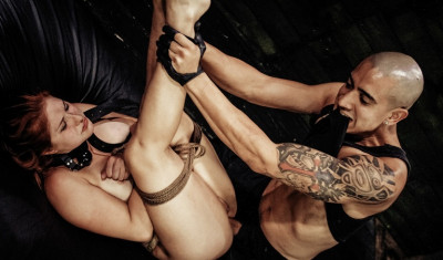 Asshole Is Fucked Rough & Deep In Rope Bondage