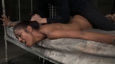 Epic brutal drooling deepthroater Lotus Lain bound down roughly fucked by big dick! (2015)
