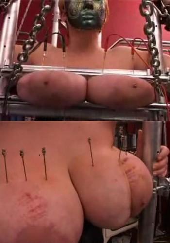 Huge needle pierced tits