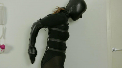 Laced In Armbinder & Hood On Screen