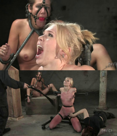Hard bondage, torture, spanking and strappado for two hot bitches (Part 3)
