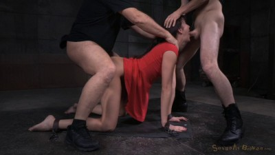 Brunette Bianca Breeze bound doggystyle