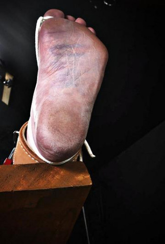 Painful and punishing feet torture