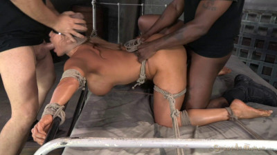 Giant Titted MILF Ava Devine Blindfolded Bound And Fucked Roughly By 2 Cocks
