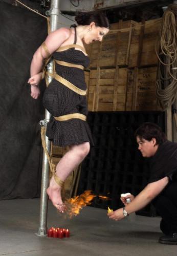 In fiery torture