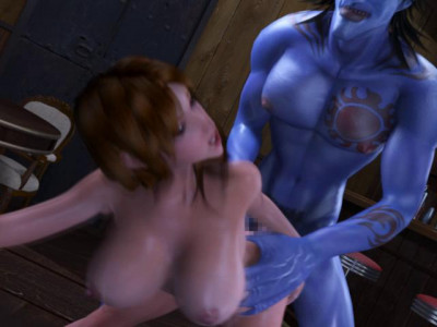 Blue Man Fucks Me