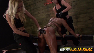 StraponSquad - Feb 03, 2015 - Hot Muscle MILF Becca Diamonds 1st Lesbian Domination