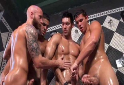 Gangbang At Bath House 2