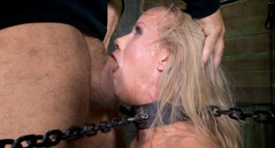 Stunning Milf Simone Sonay Chained Down Hooded Multiple Orgasms While Sucking Brutal Deepthroat