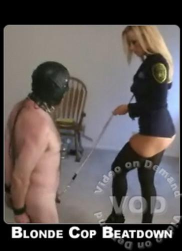 Blonde Cop Beatdown