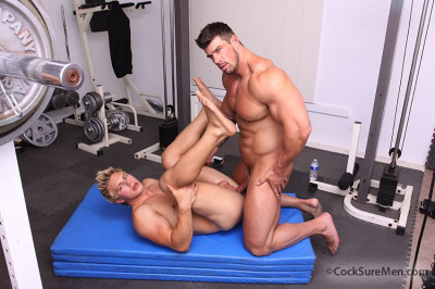 "Zeb Atlas and Brady Jensen in ""Sales Job."""