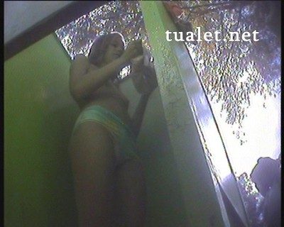 Hidden camera in the beach cabin