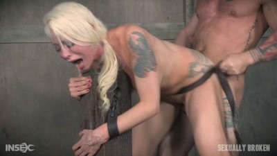 Lorelei Lee Is Bound To The Fucking Post Brutal Face Fucking And Deep Uterus Banging Sex