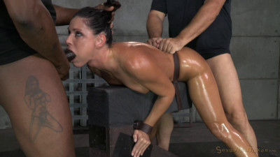 MILF India Summer shackled down and used hard, massive orgasms