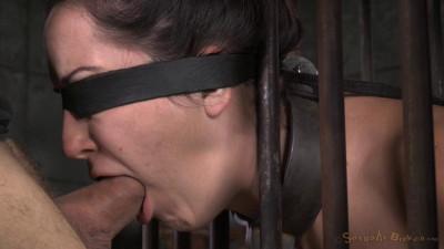 Caged In Strict Bondage And Brutal Punishing Deepthroat