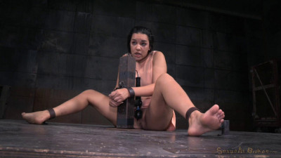 Cute Brunette Paisley Parker Blindfolded In Strict Bondage, Vibrated While Deepthroating BBC
