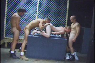 Four Horny Guys Suck And Bang Eachother Till They Squirt