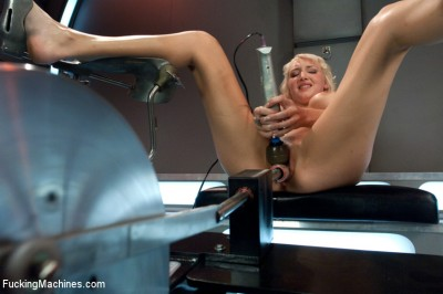 Debuting of the Sexiest Damsel in Distress Blonde: Machine and Mind Fucked