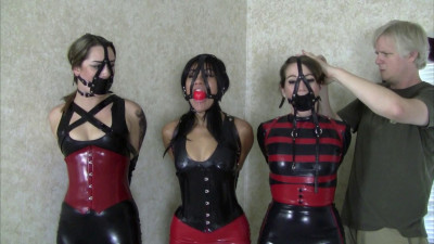 Three Lady Latex Party