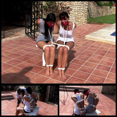 Bondage Escape Attempt From Spain (L.Caine & Y.Costeau) SuperTightBondage