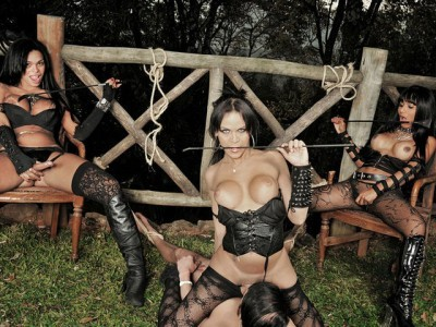 Submissive Slave Dominated By Ts Dommes