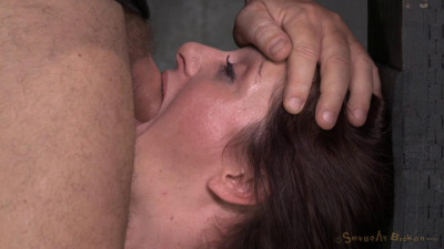 Pretty Redheaded MILF Cici Rhodes Throatboarded By 2 Dicks While Restrained On A Fucking Machine