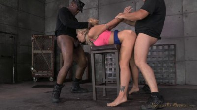 Holly Heart caged, trained for epic deepthroat on BBC